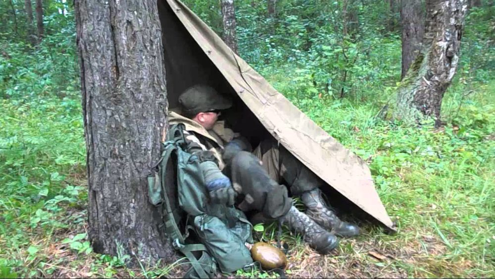 Укрытие из плащ-палатки