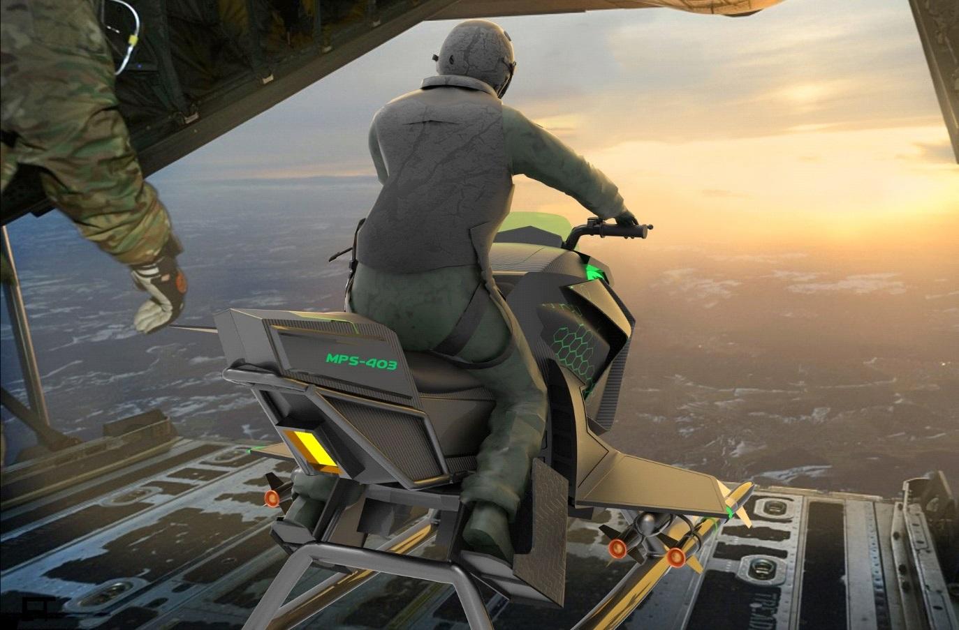 Взлет мотоцикла