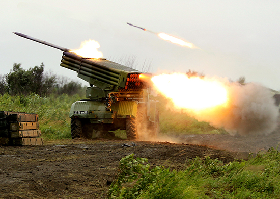 Пуск ракет «Торнадо-Г»