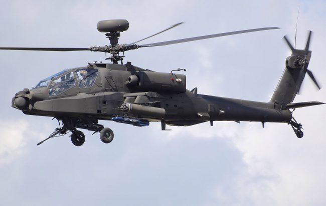 Вертолет с лазером