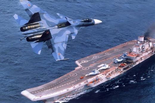 «Адмирал Кузнецов» и самолет