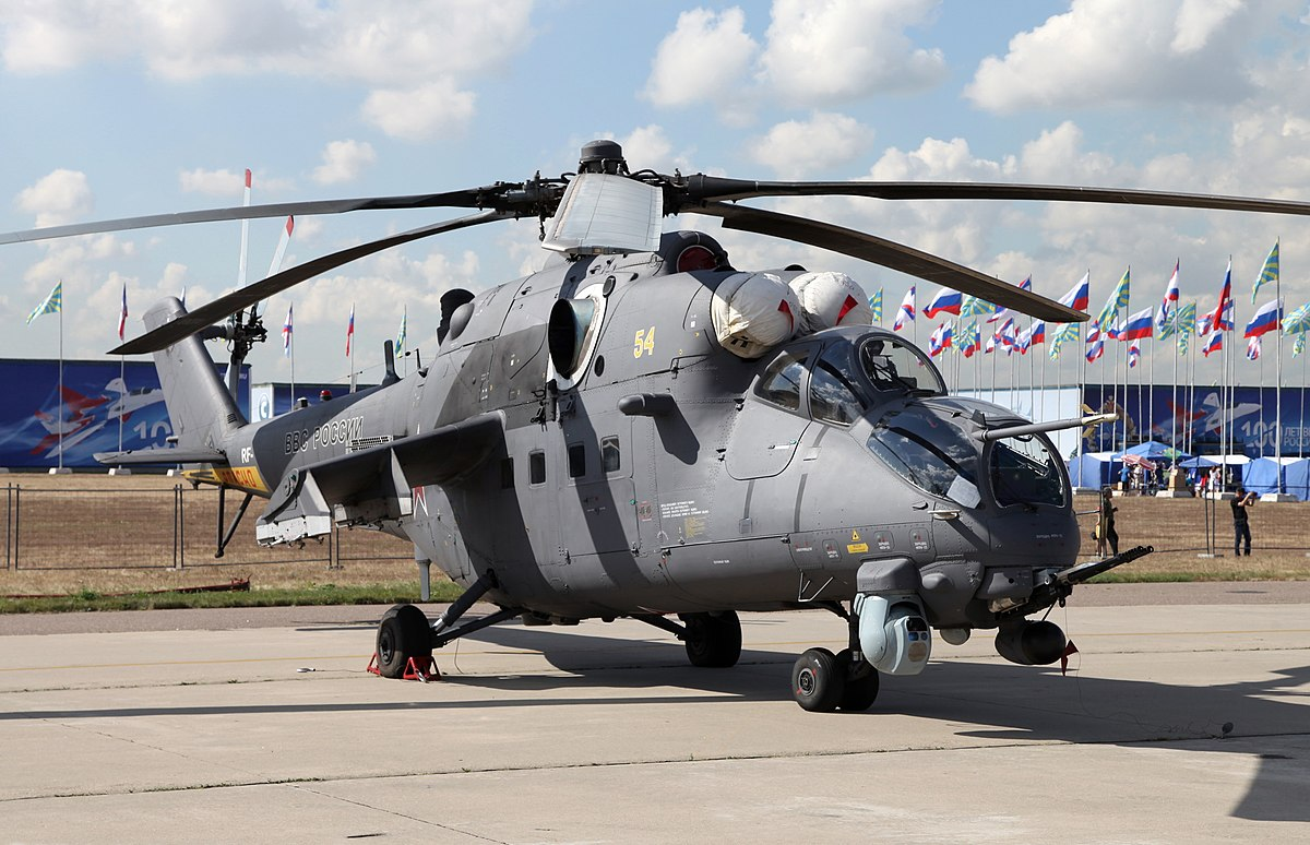 Ми-35М на выставке