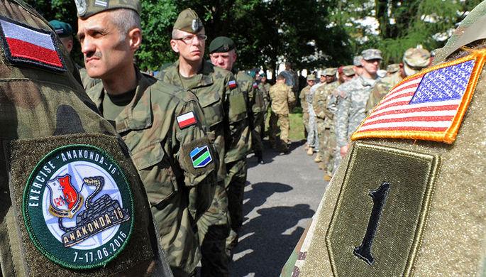Солдаты Польши и США
