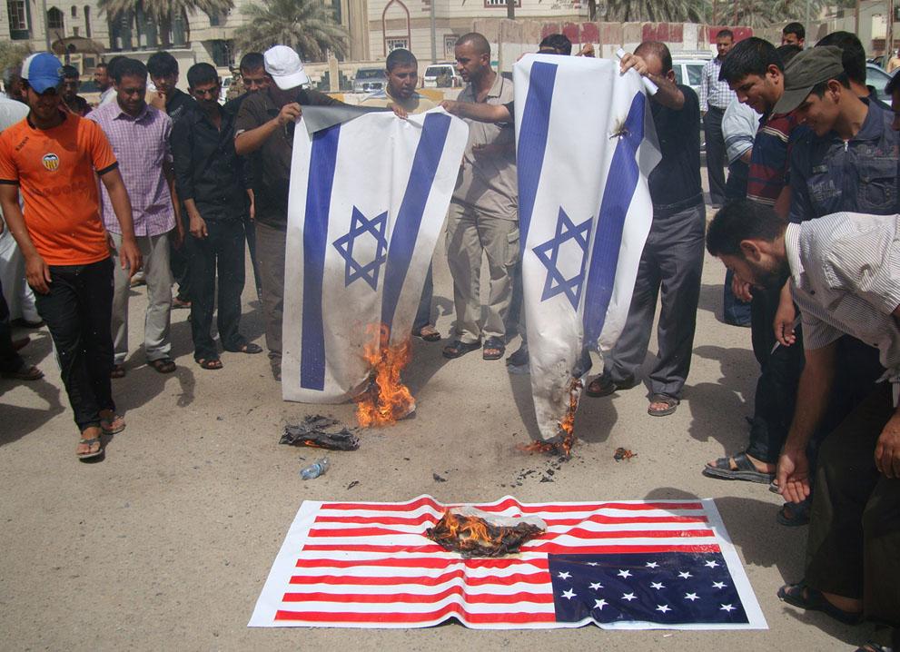 Сожжение флагов США и Израиля