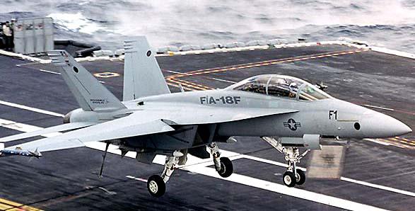 Взлет F/A-18F