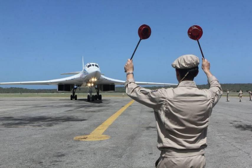 Посадка Ту-160