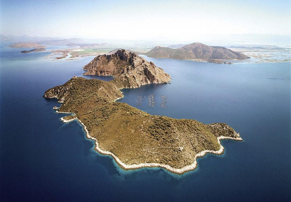 Остров Омфори с высоты