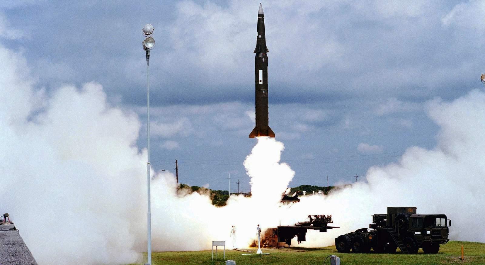 Запущенная ракета