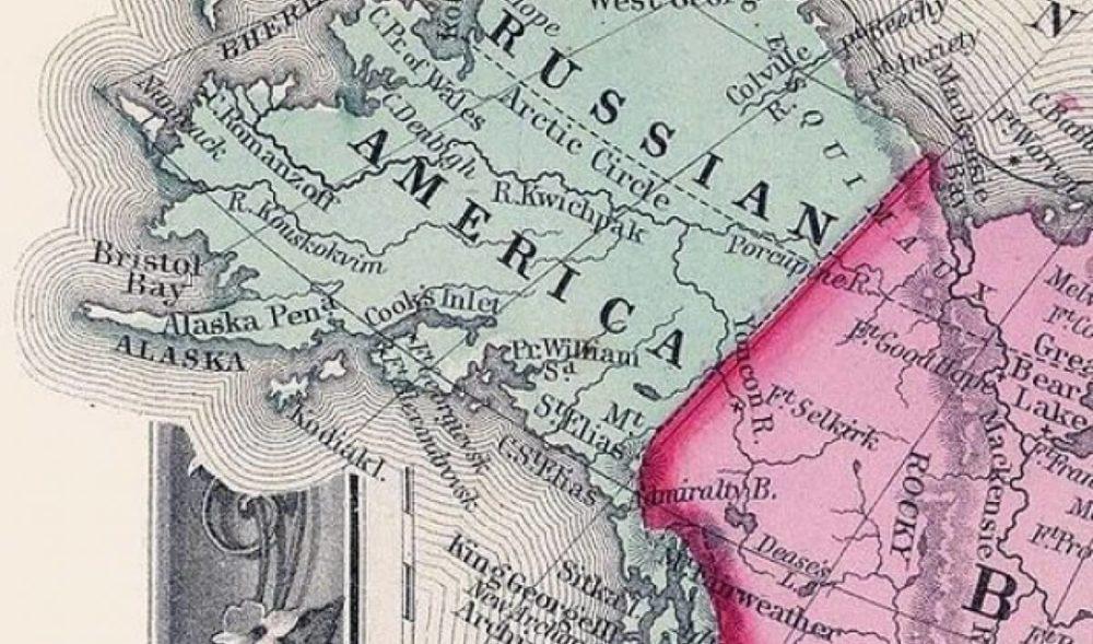 Карта российской Аляски