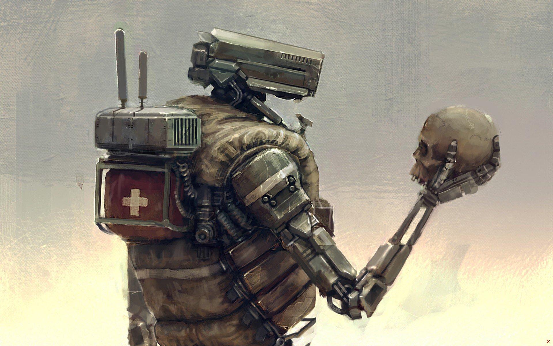 Робот с черепом