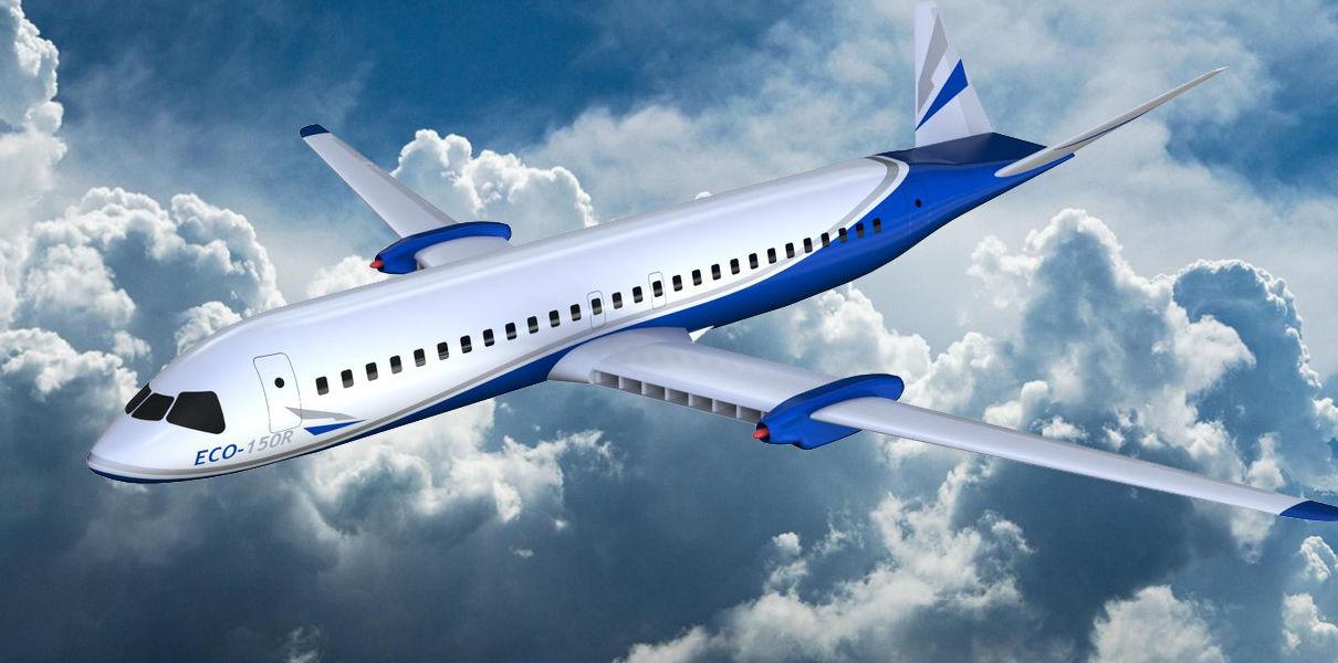 Самолет с электродвигателем