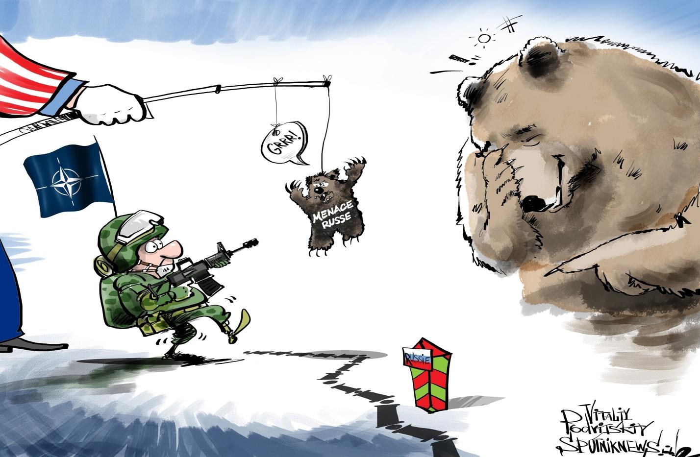 Карикатура на НАТО