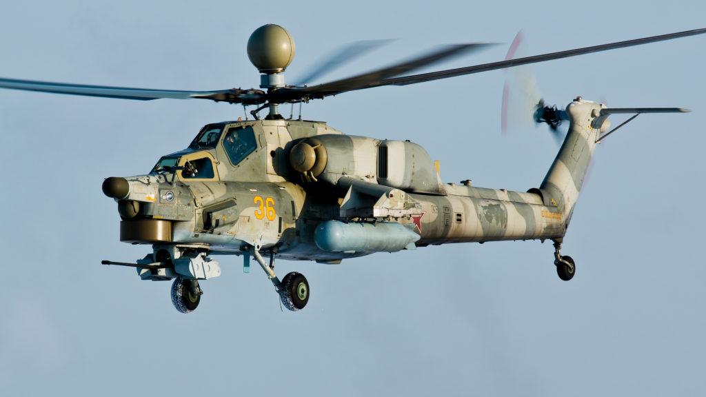 Ми-28 в воздухе