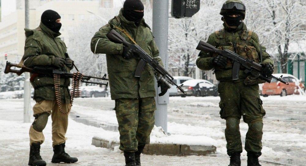 Российские солдаты на улицах