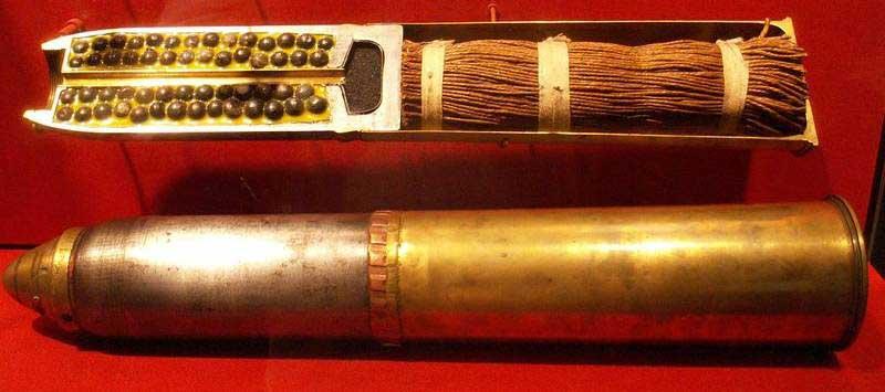 Шрапнельный снаряд в разрезе
