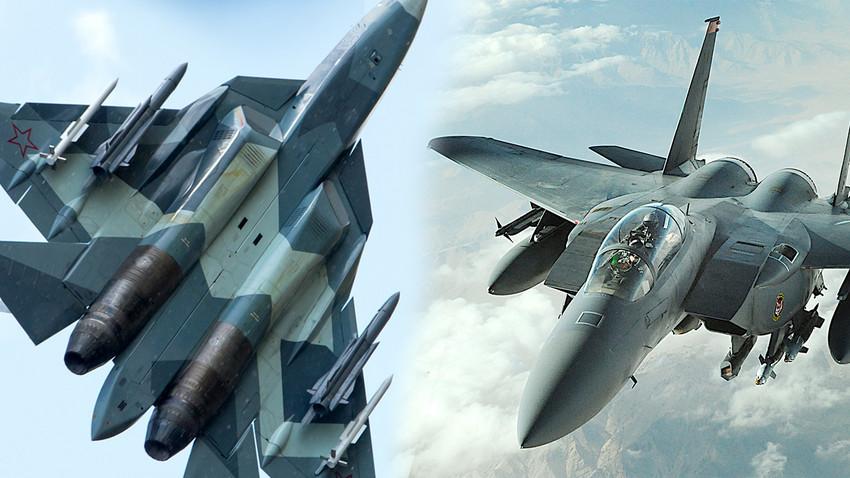 Су-57 и F-15C Eagle