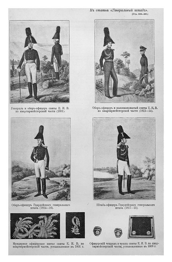 Униформа штабных офицеров XIX века