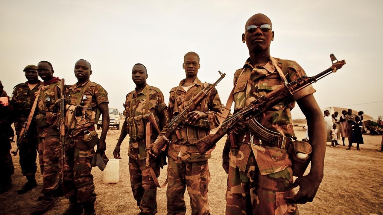 Африканские солдаты