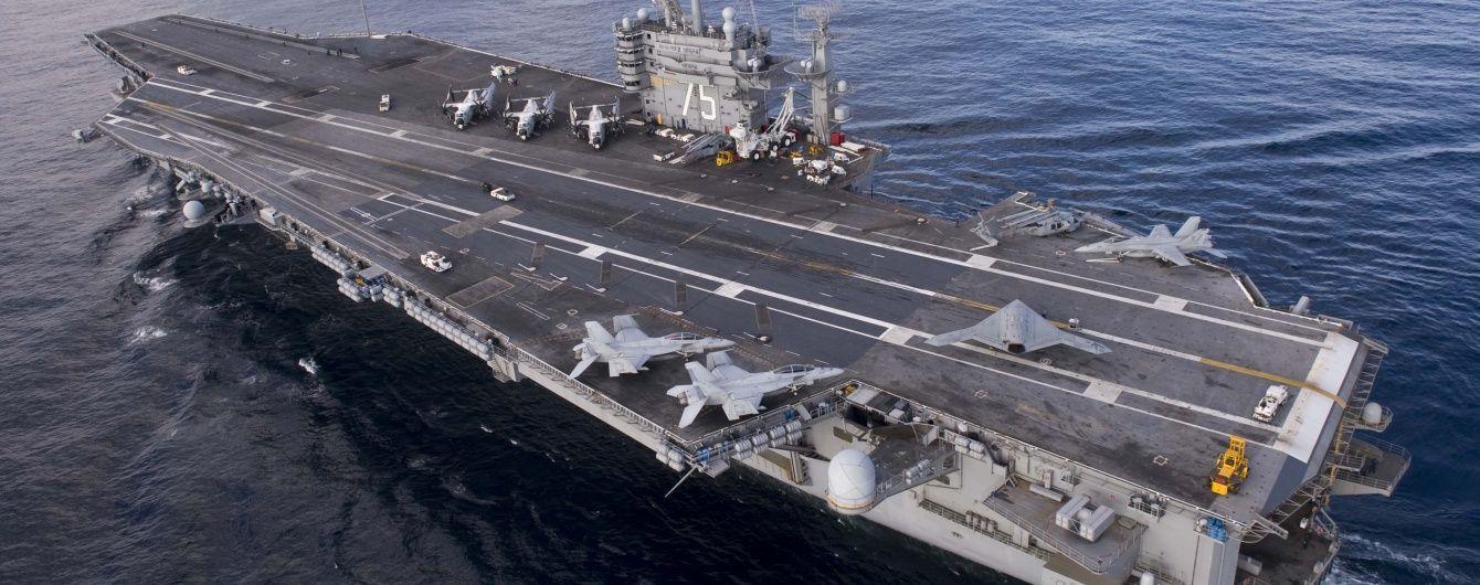 Авианосец США в Средиземном море