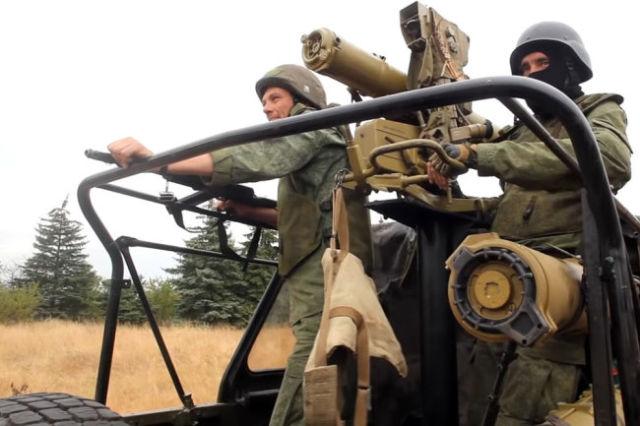Бойцы бригады «Оплот»