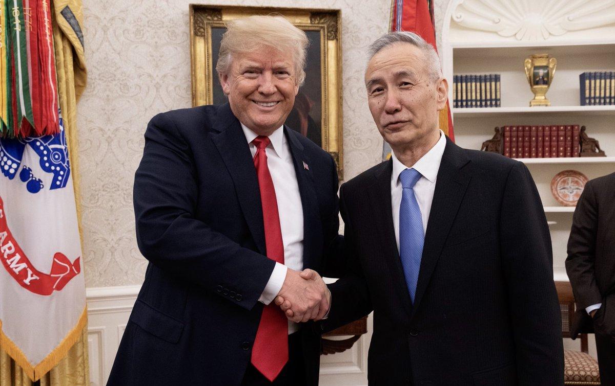 Дональд Трамп и Лю Хэ