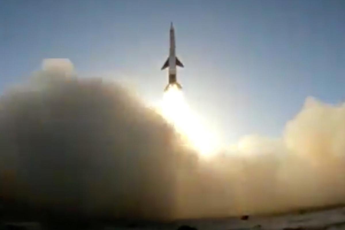 Испытания китайской ракеты