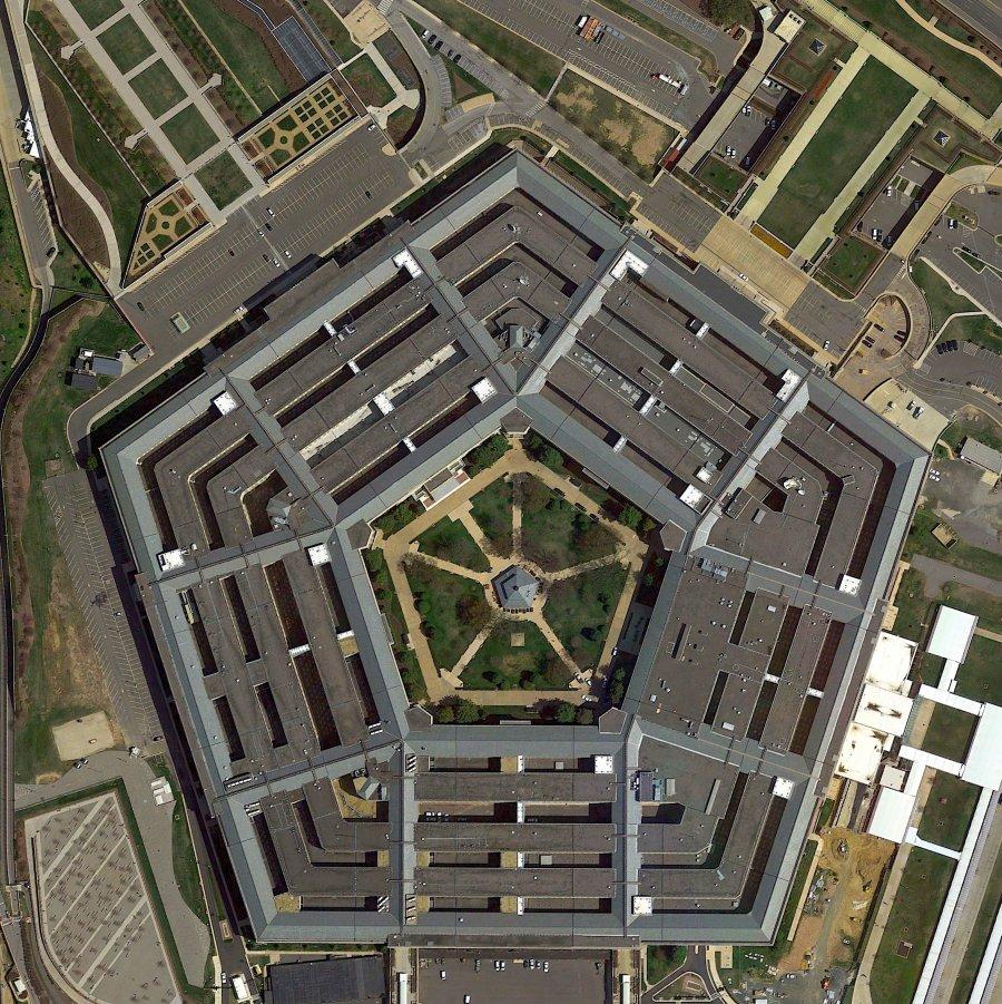 Пентагон, вид сверху