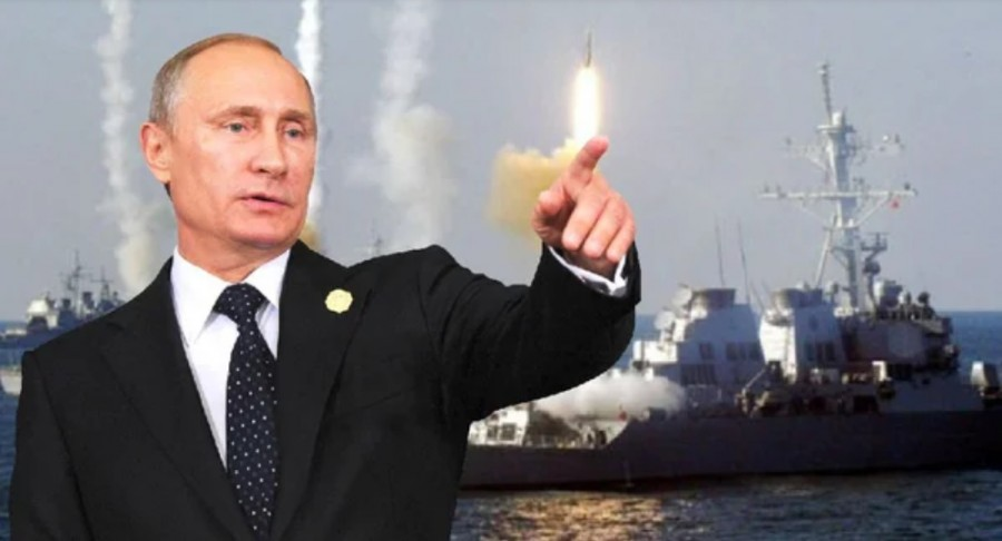 Путин и боевые корабли