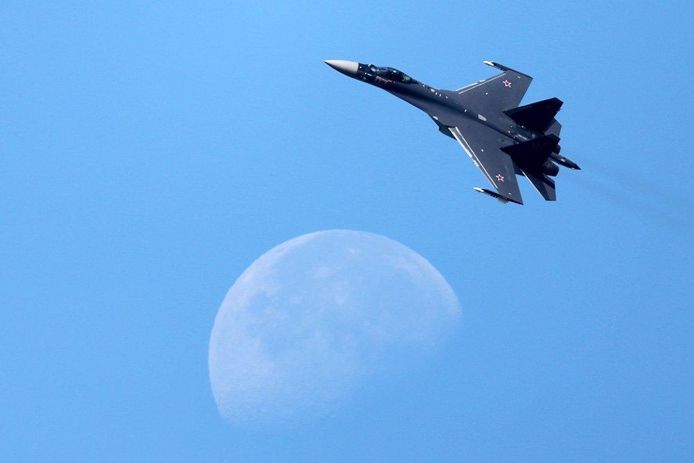 Су-35 в небе