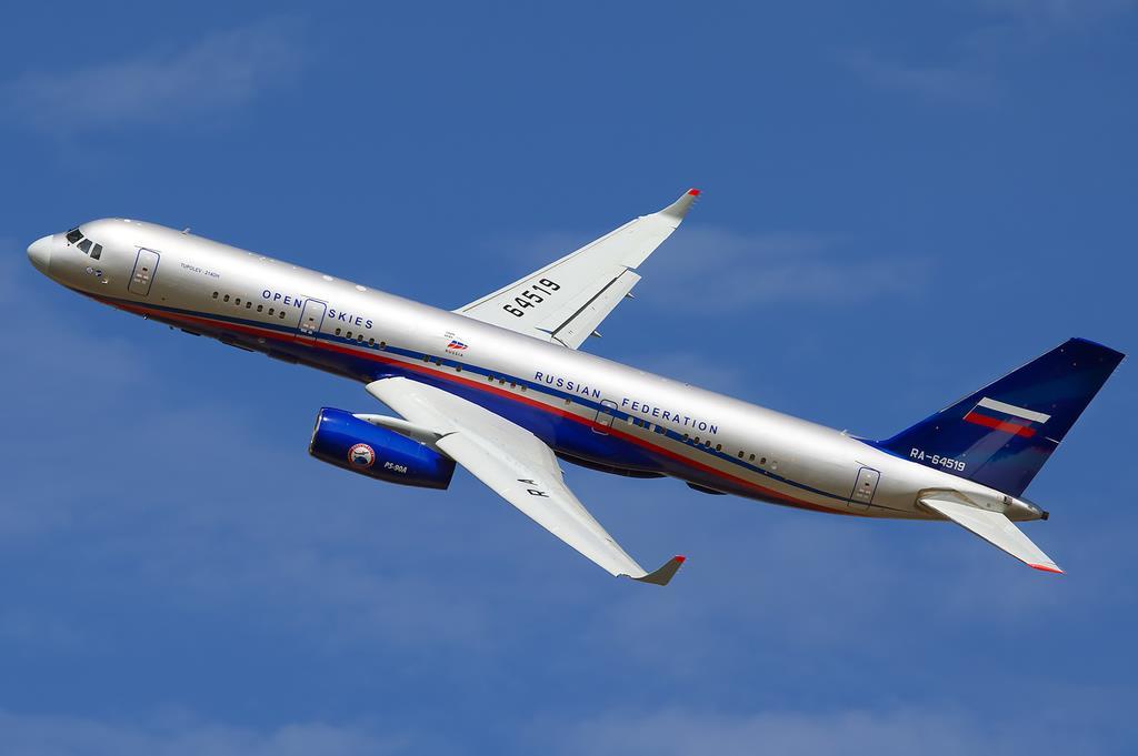 Ту-214ОН в небе