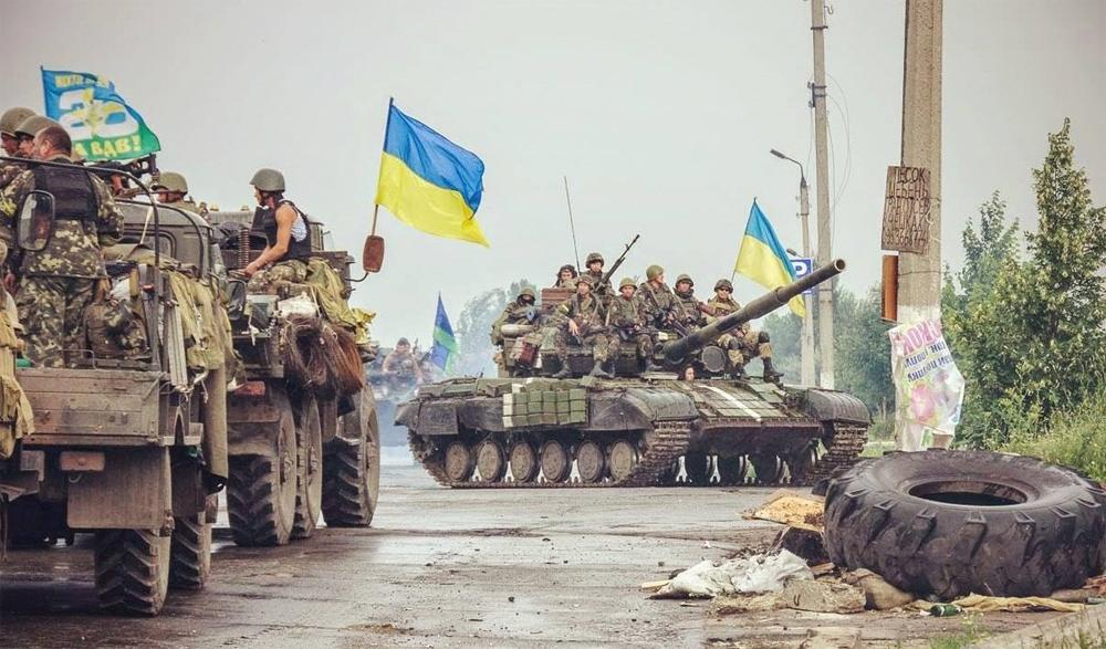 Украинская техника на дороге