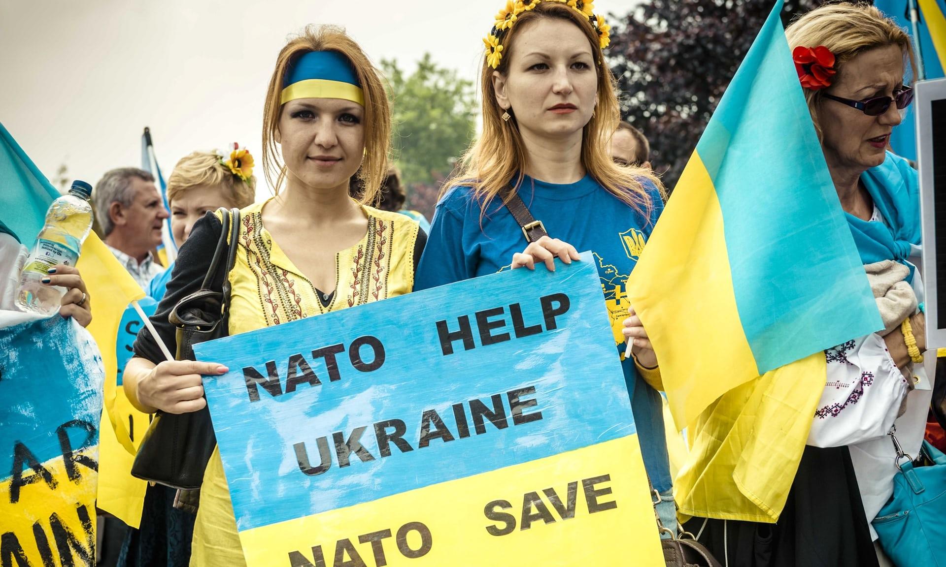 Украинские плакаты с призывами к НАТО