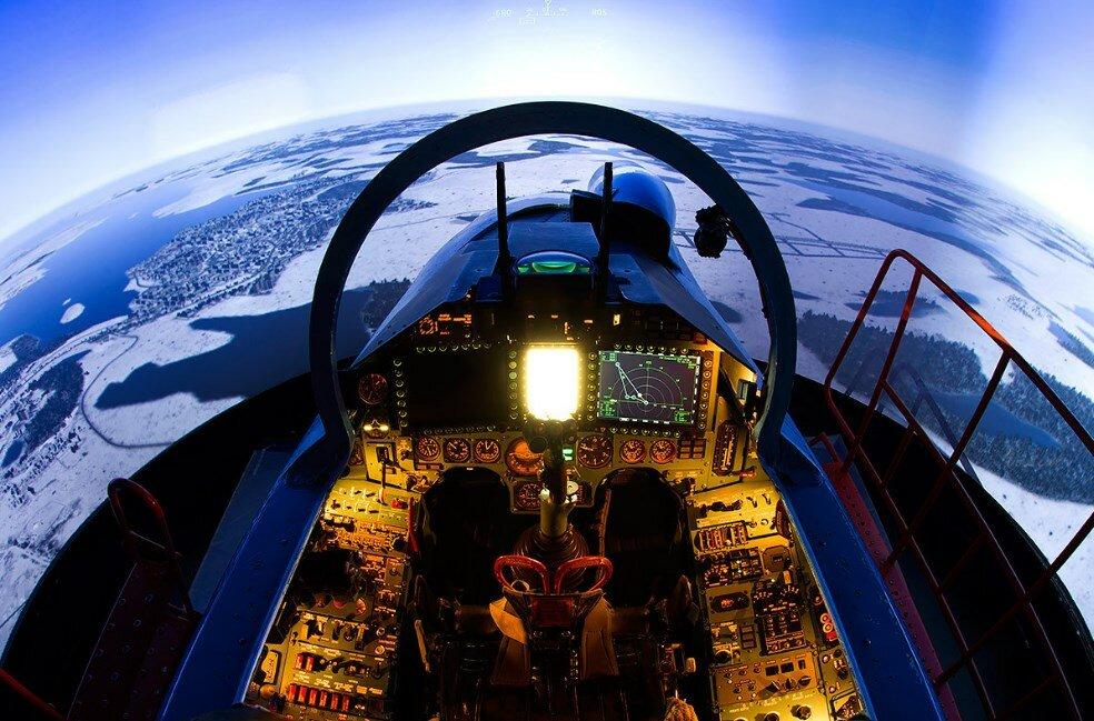 Вид из кабины Су-35