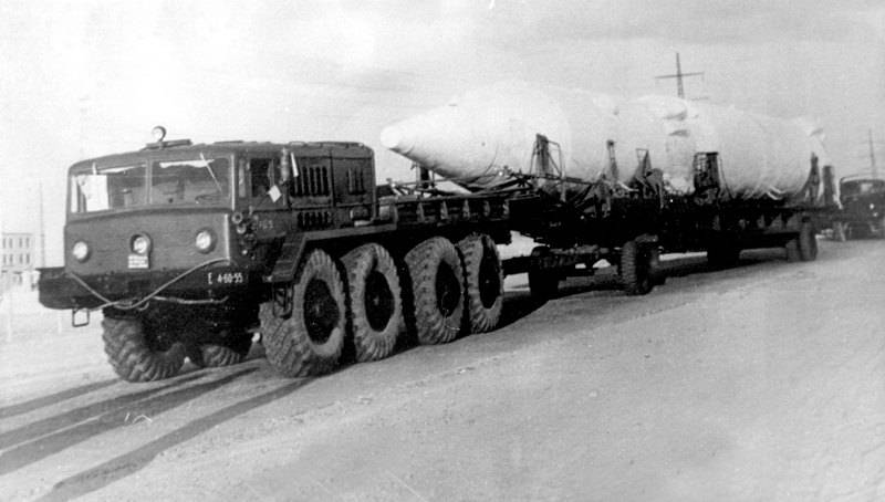 Доставка ракеты на Байконур