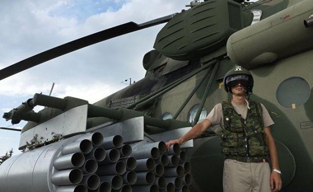 Ми-28Н с пилотом