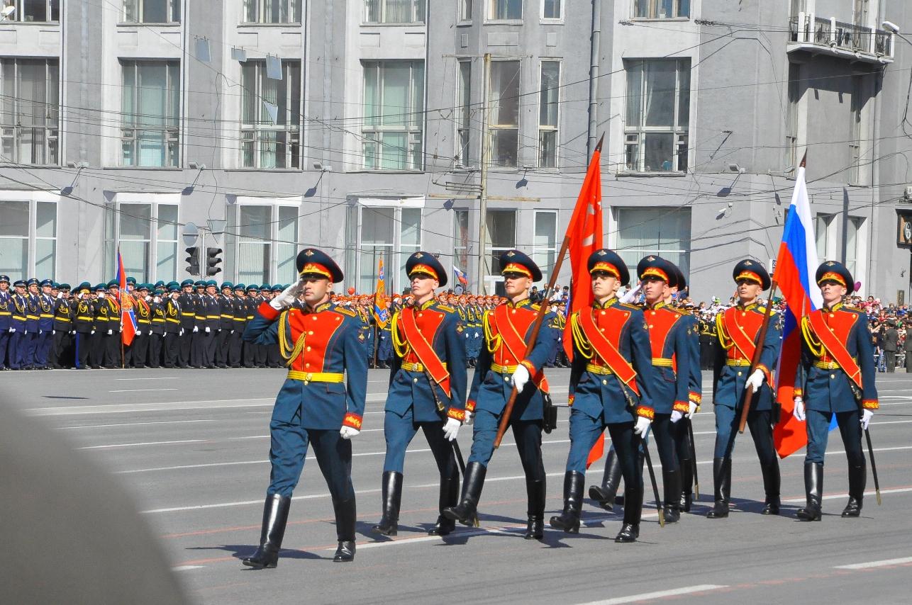 Парад в Новосибирске