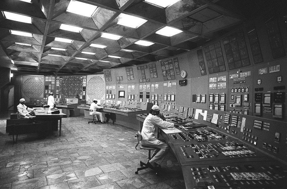 Пульт управления реактором ЧАЭС