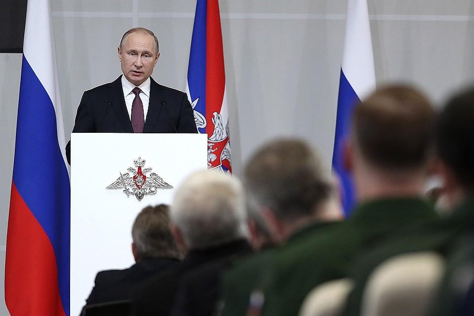 Путин рассказывает о боевых лазерах