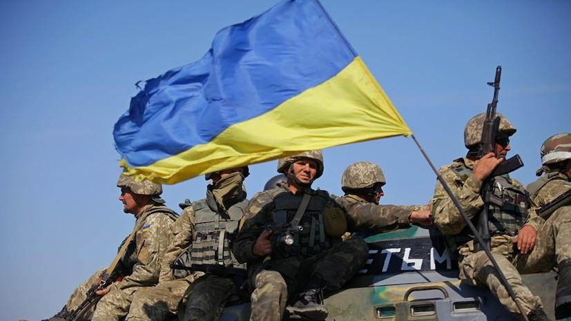 Солдаты ВСУ на танке