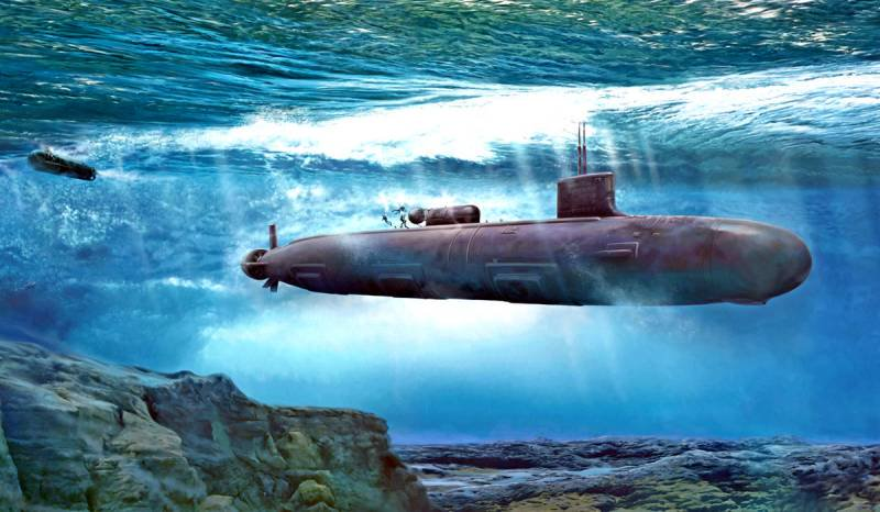 Субмарина под водой