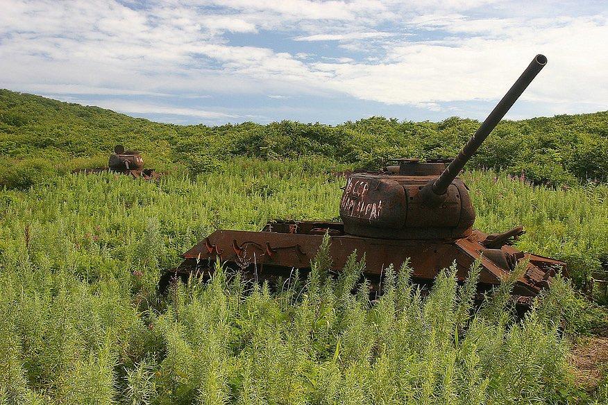 Заржавевший танк