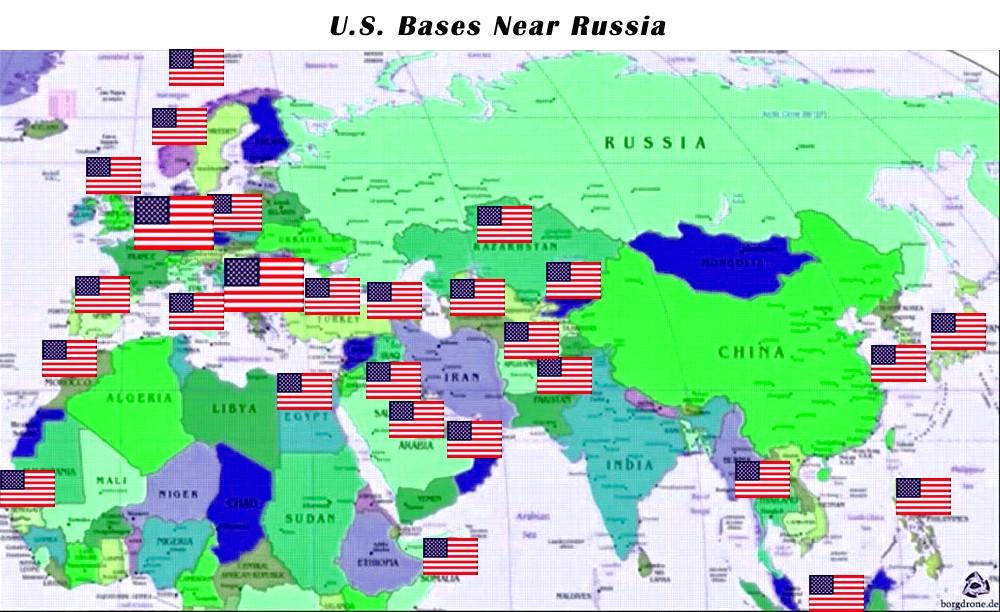 Базы НАТО вокруг России