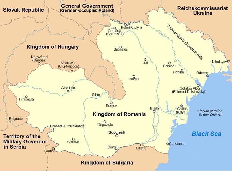 Карта Румынии 1942 года