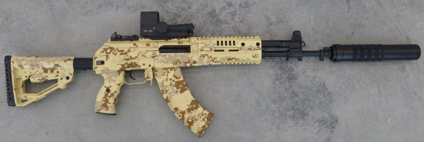 АК-12 с глушителем