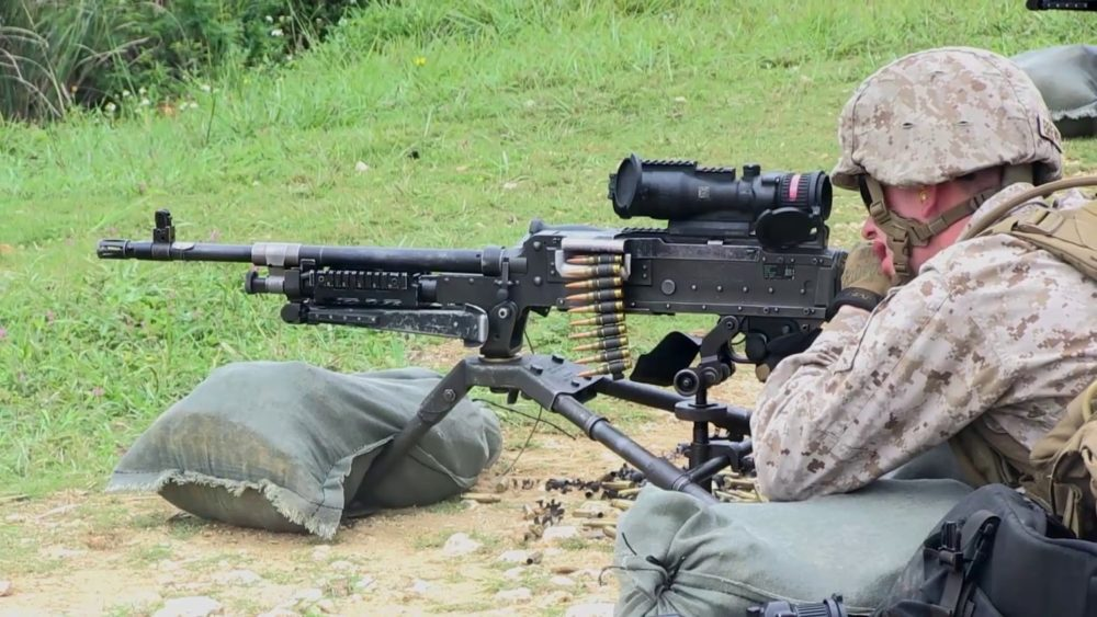 Browning M2 с прицелом