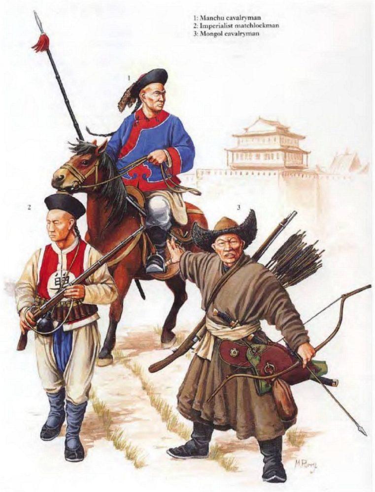 Маньчжурские воины XVII века