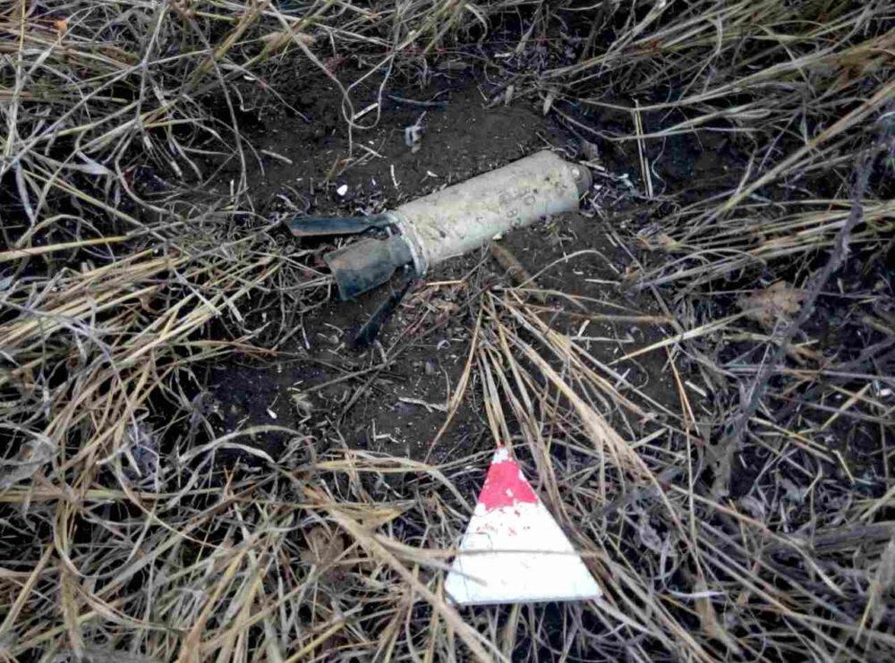 Неразорвавшиеся боеприпасы от кассетных бомб
