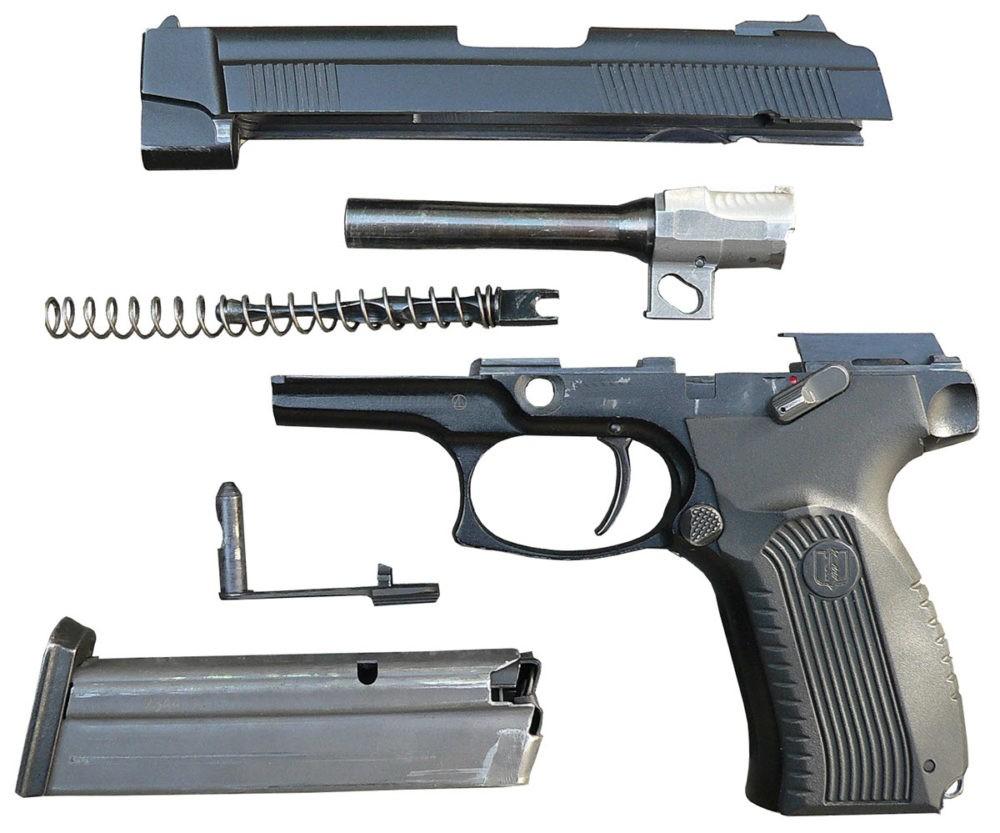 Разобранный пистолет Ярыгина