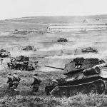Танковый бой времён ВОВ