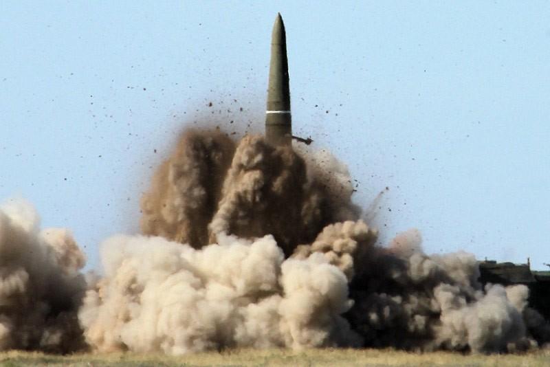 Запуск ракеты Искандера